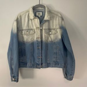 Forever 21 Bleached Jean Jacket Small